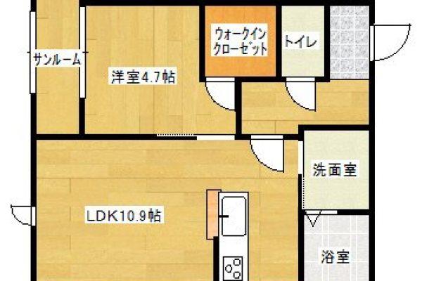 【賃貸】<新築> 豊岡市幸町 [ 2LDK/アパート ] グランメゾン幸01