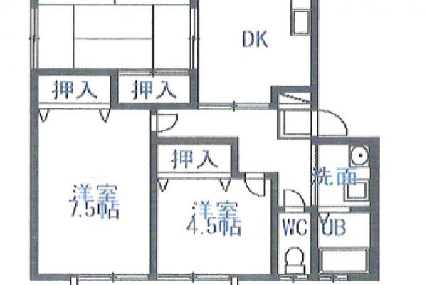 【賃貸】九日市上町[3DK/貸家 ]ハイツ宮ノ下