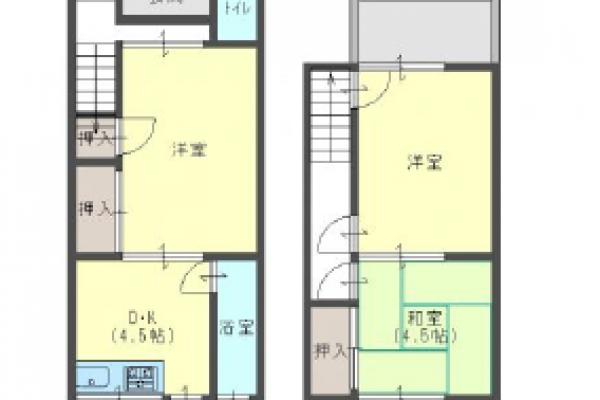 【賃貸】豊岡市桜町[メゾネットタイプ/アパート]桐野アパート4号室
